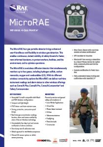 MicroRAE specificatin sheet frame