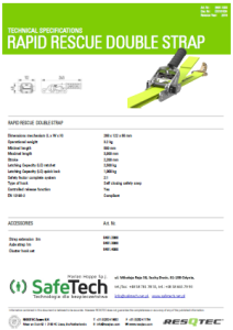 rescue strap specifications frame